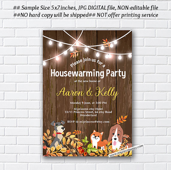 Fall Autumn Party Housewarming Invite New House